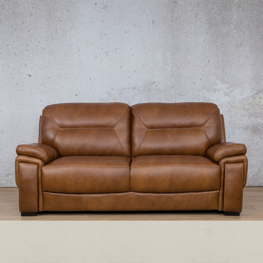 San Lorenze Leather Couch | 3 Seater Couch | Couches for Sale | Urban White | Leather Gallery Couches