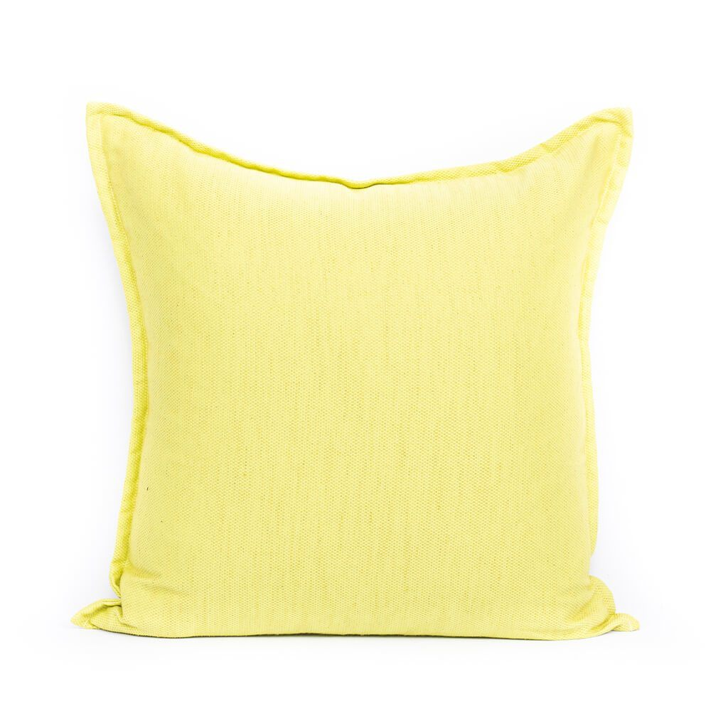 Lime Green Cushion | Leather Gallery