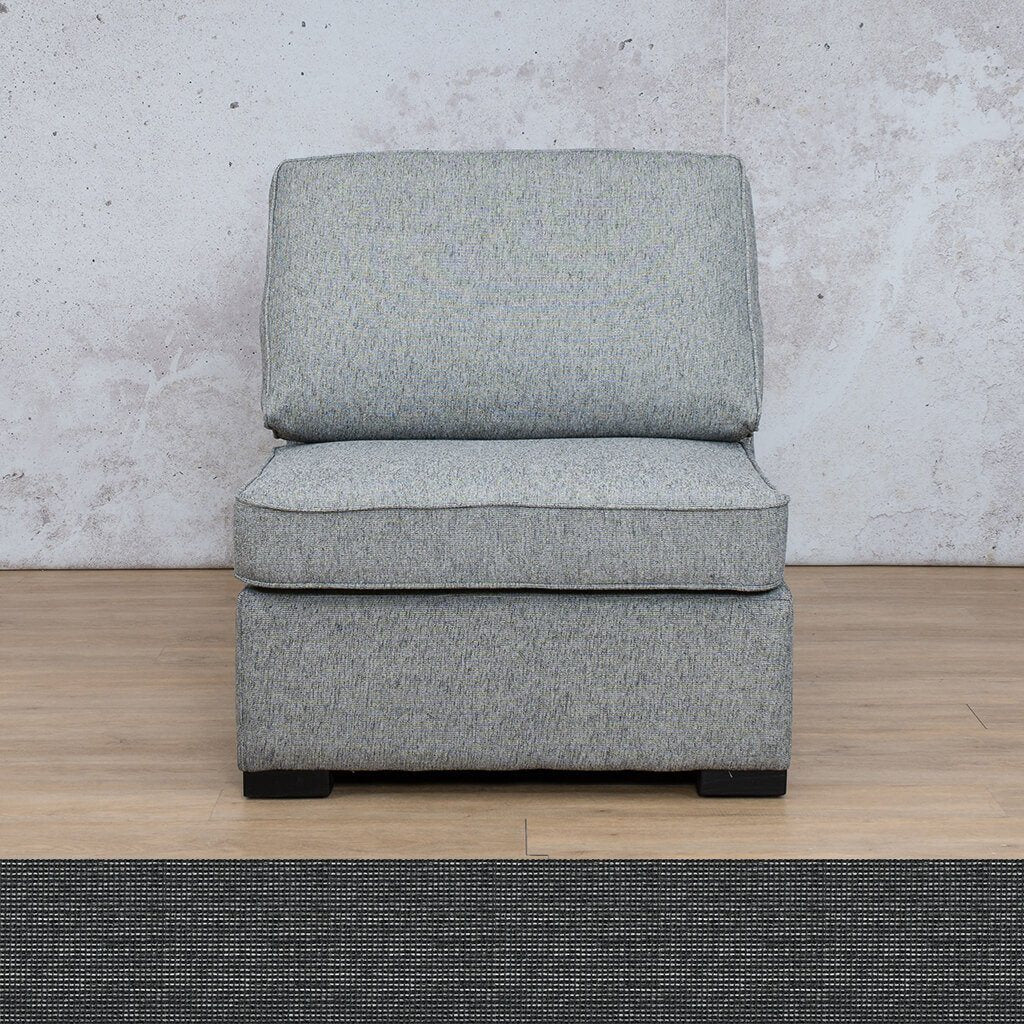 Arizona Fabric | Armless Chair | Volcanic Charcoal | Leather Gallery