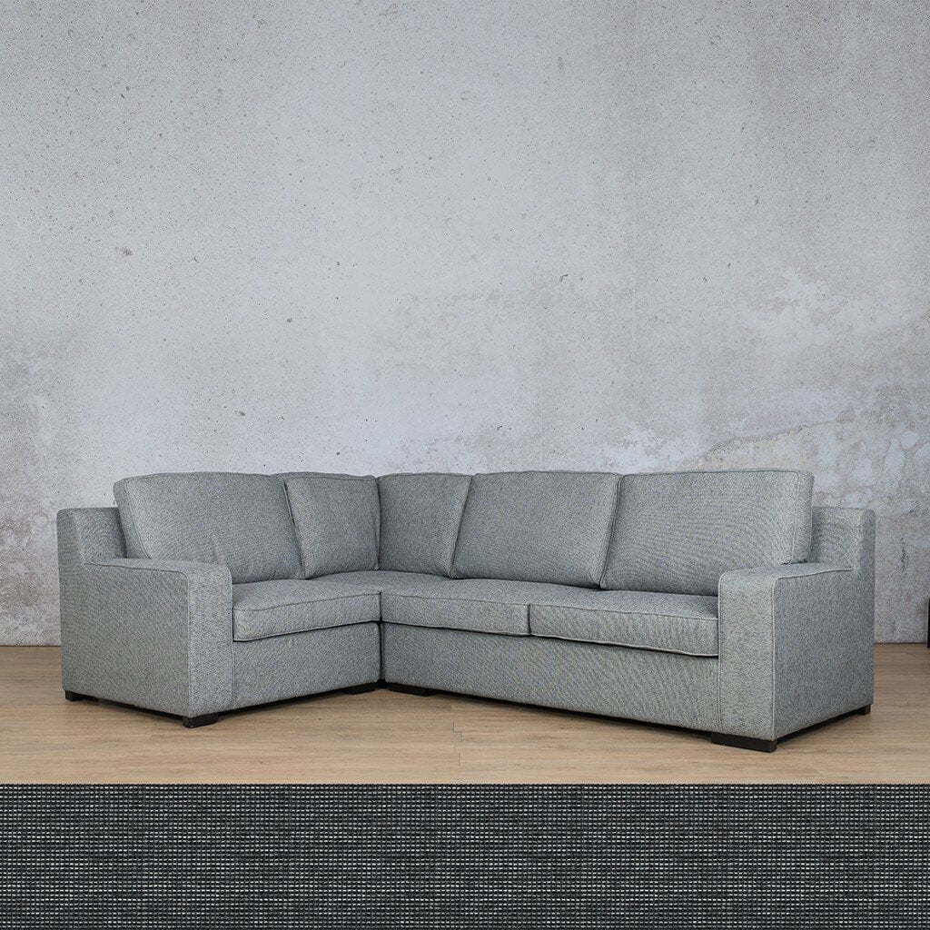 Arizona Fabric | L-Sectional 4 Seater LHF | Volcanic Charcoal | Leather Gallery