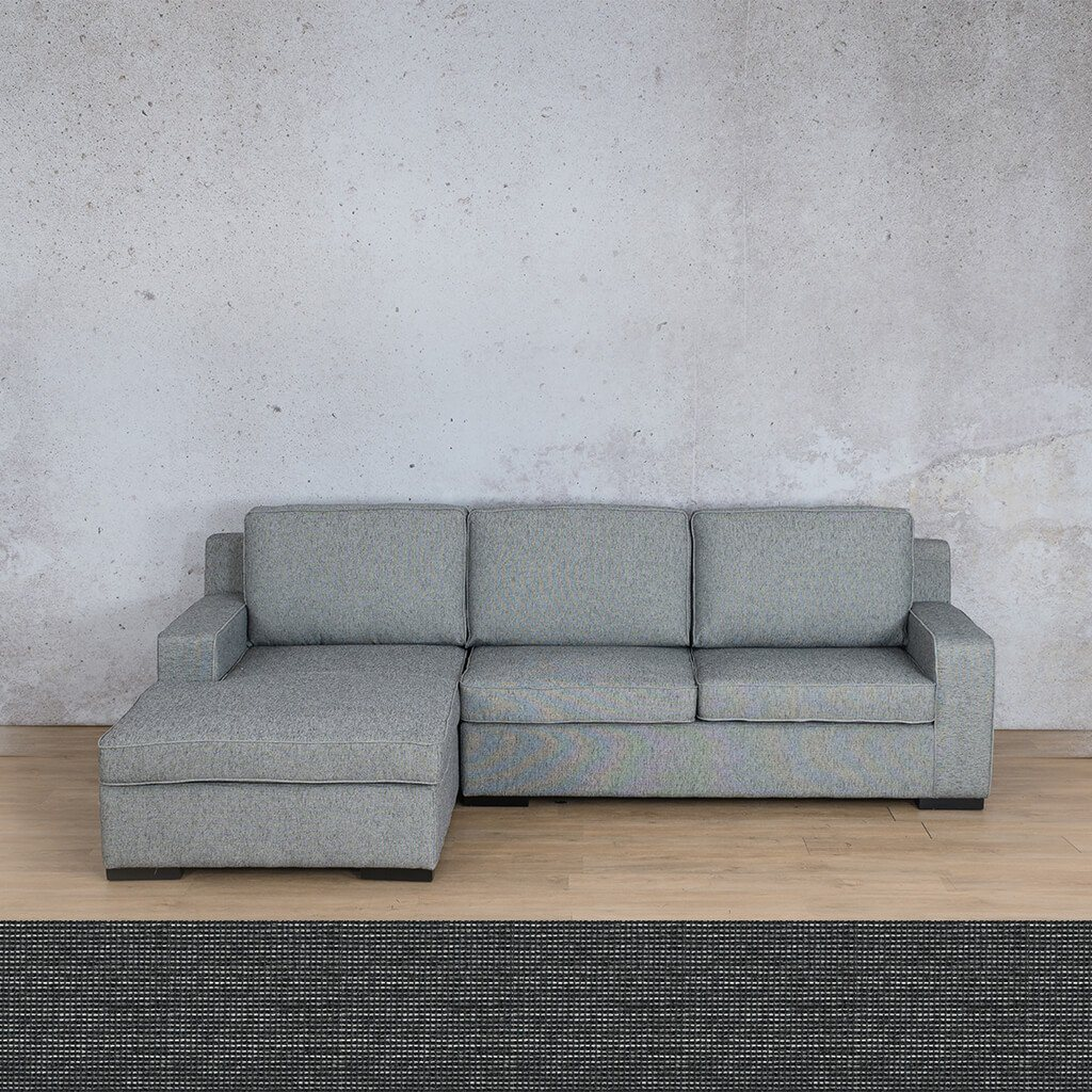 Arizona Fabric | Sofa Chaise LHF | Volcanic Charcoal | Leather Gallery