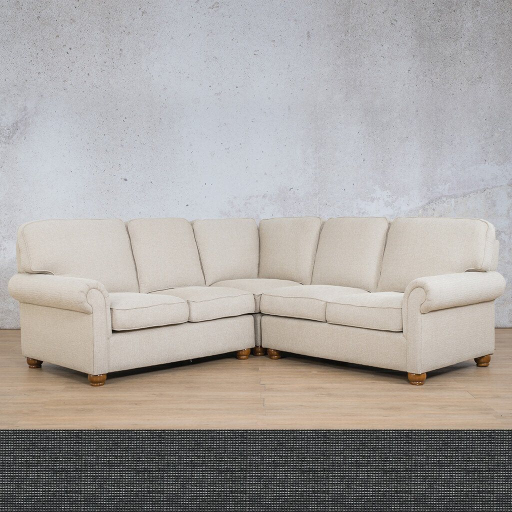 Salisbury Fabric L-Sectional 5 Seater