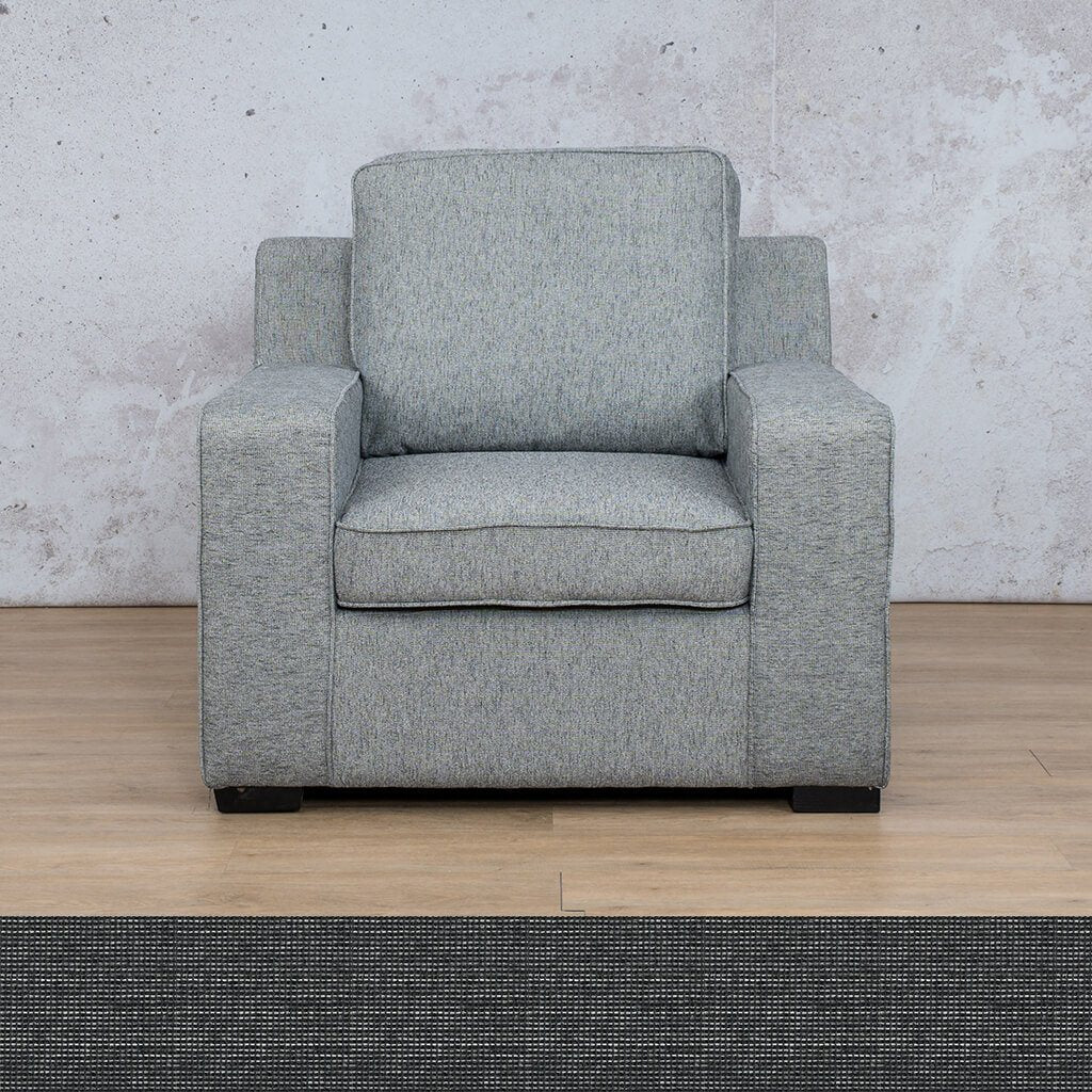 Arizona Fabric | 1 Seater | Volcanic Charcoal | Leather Gallery