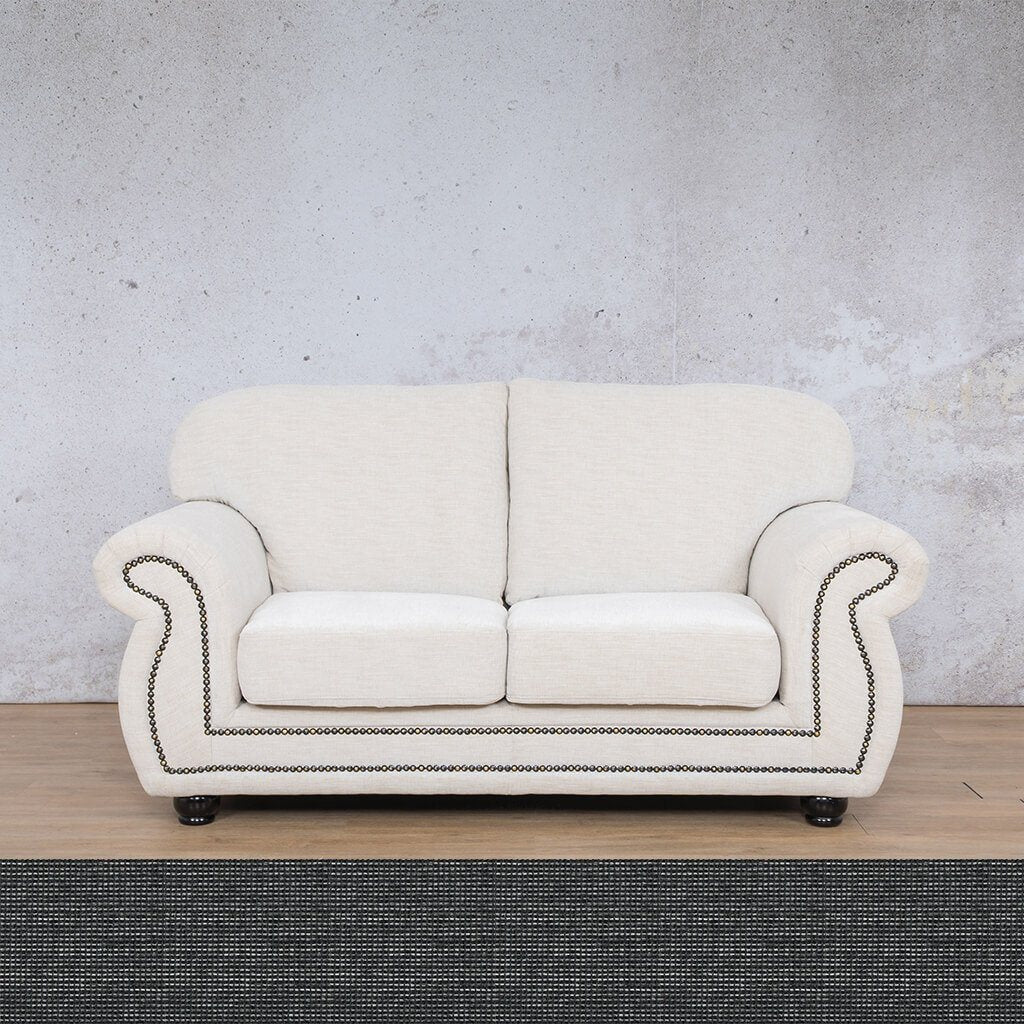 Isilo Fabric sofa suite | 2 Seater Couch  | Couches for Sale| Volcanic Charcoal | Leather Gallery Couches