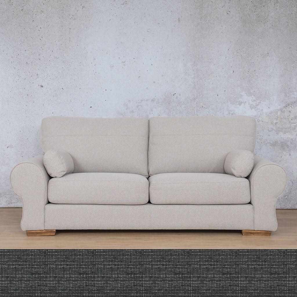 Carolina Fabric Couch | 3 Seater Couch  |  Couches for Sale | Volcanic Charcoal | Leather Gallery Couches