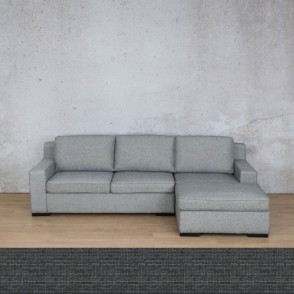 Arizona Fabric | Sofa Chaise RHF | Volcanic Charcoal | Leather Gallery
