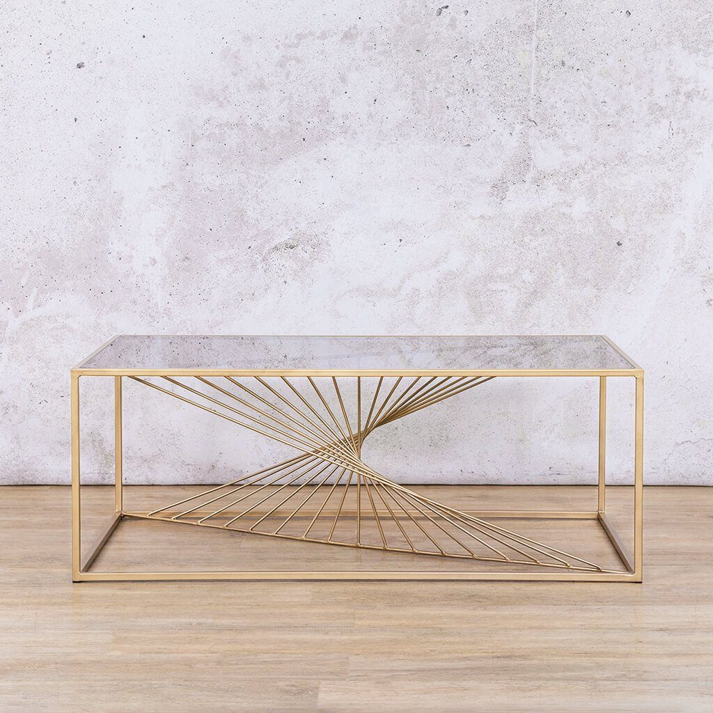 Zeus Gold Coffee Table | Leather Gallery