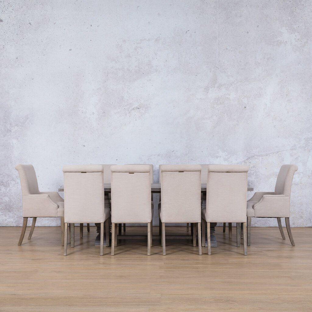 Belmont Wood Top & Baron | 10 Seater | Dining Set | Leather Gallery