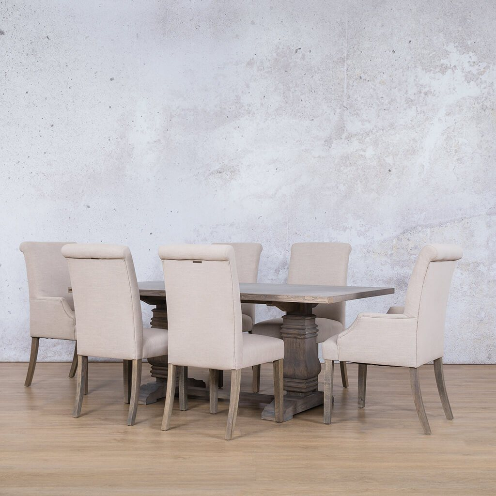 Belmont Wood Top & Baron 6 Seater Dining Set
