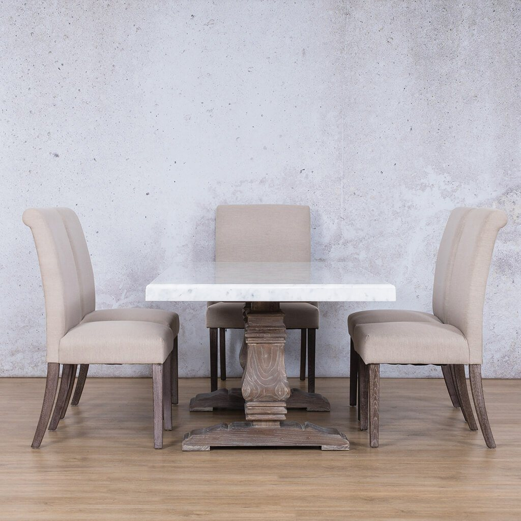 Belmont Marble Top & Baron 6 Seater Dining Set