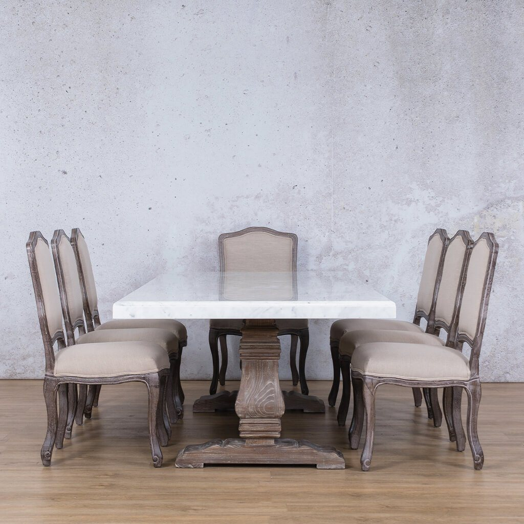 Belmont Marble Top & Duke 8 Seater Dining Set