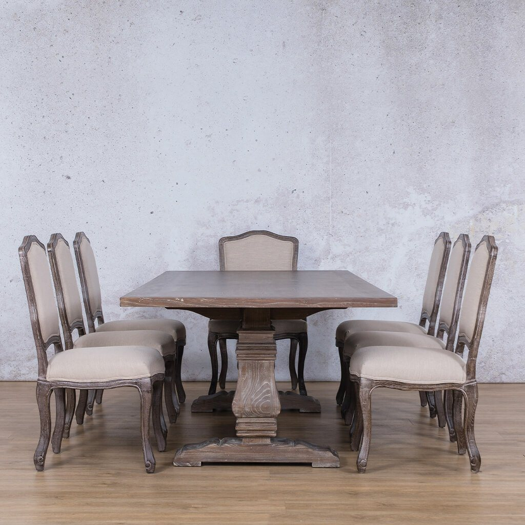 Belmont Wood Top & Duke 8 Seater Dining Set