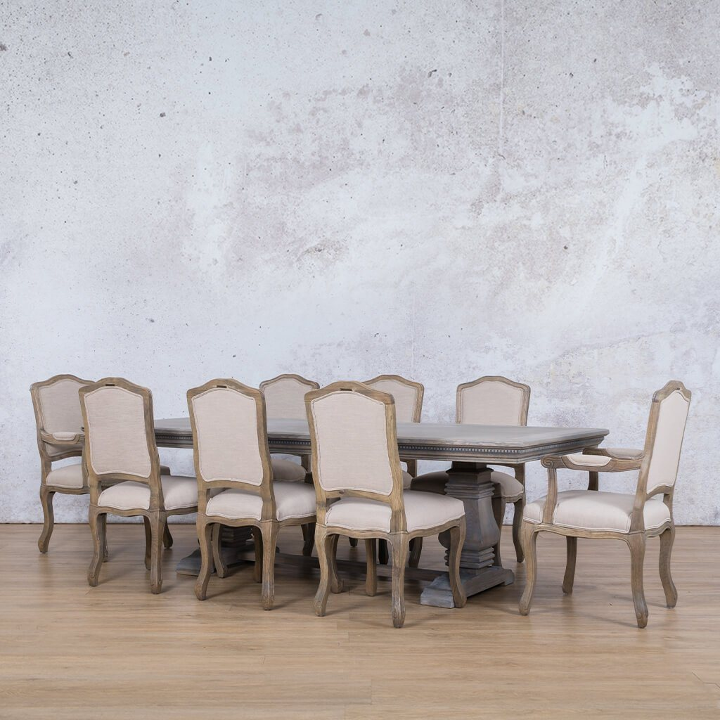 Belmont Fluted Wood Top & Duke 8 Seater Dining Set