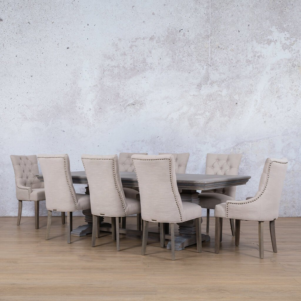 Belmont Fluted Wood Top & Duchess 8 Seater Dining Set