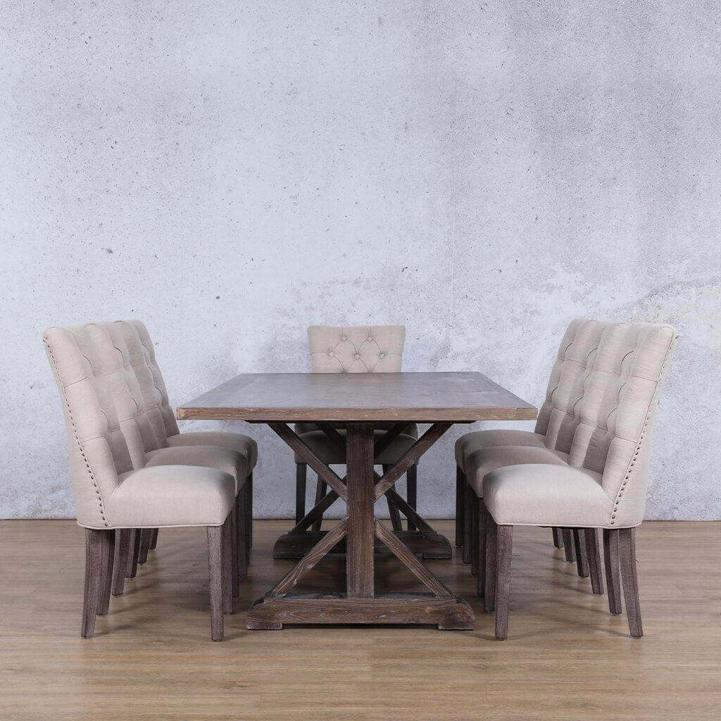 Berkeley Wood Top & Duchess 8 Seater Dining Set