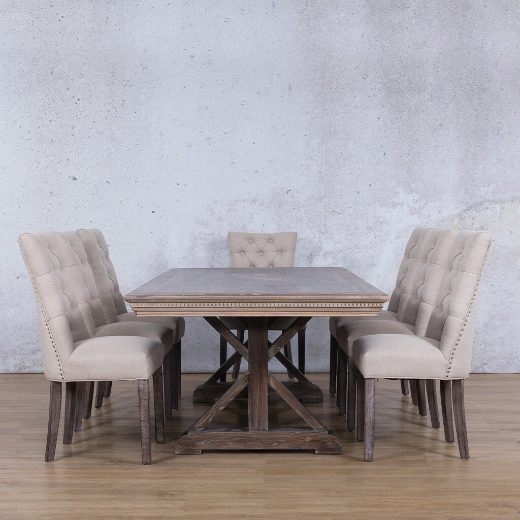 Berkeley Fluted Wood Top & Duchess 8 Seater Dining Set