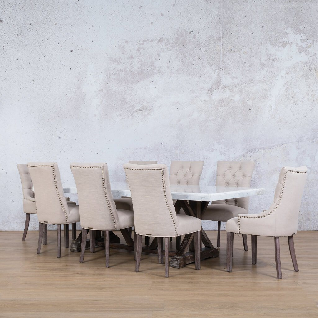 Berkeley Marble Top & Duchess 8 Seater Dining Set