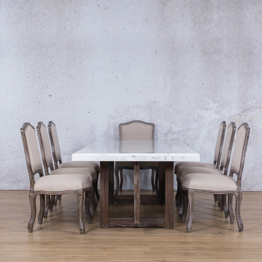 Bolton Marble Top & Duke 8 Seater Dining Set