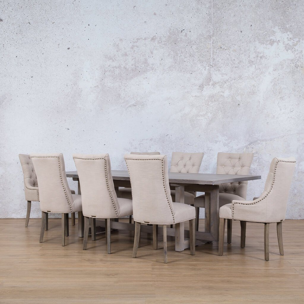 Bolton Wood Top & Duchess 8 Seater Dining Set