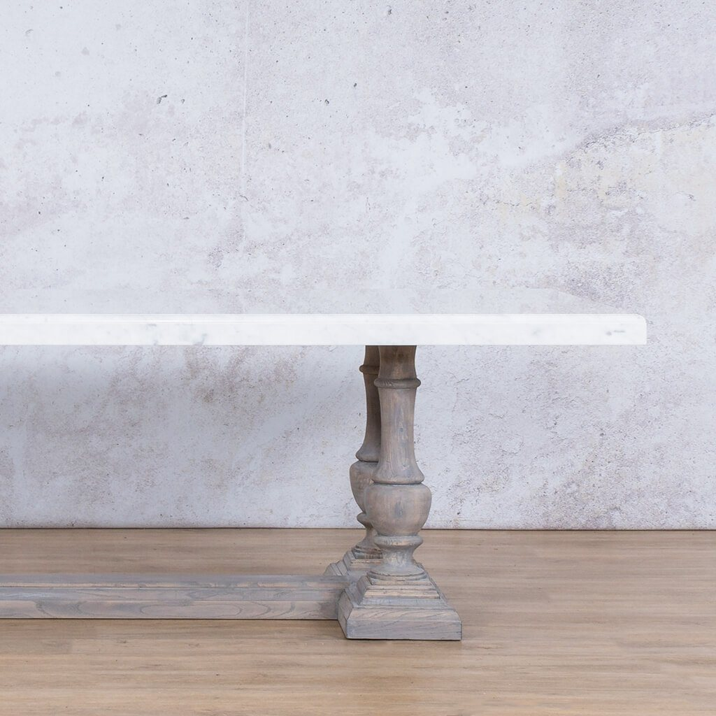 Charlotte Marble 8 or 10 Seater Dining Table - Antique Grey