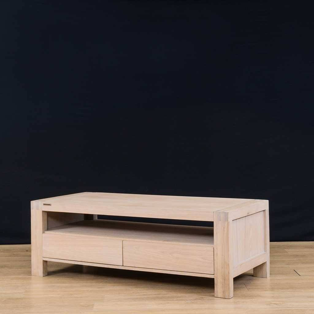 Bergen | Coffee Table | Oak Angled | Leather Gallery