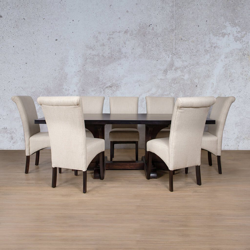 Hamilton Dining Set | 8 Seater | Leather Gallery
