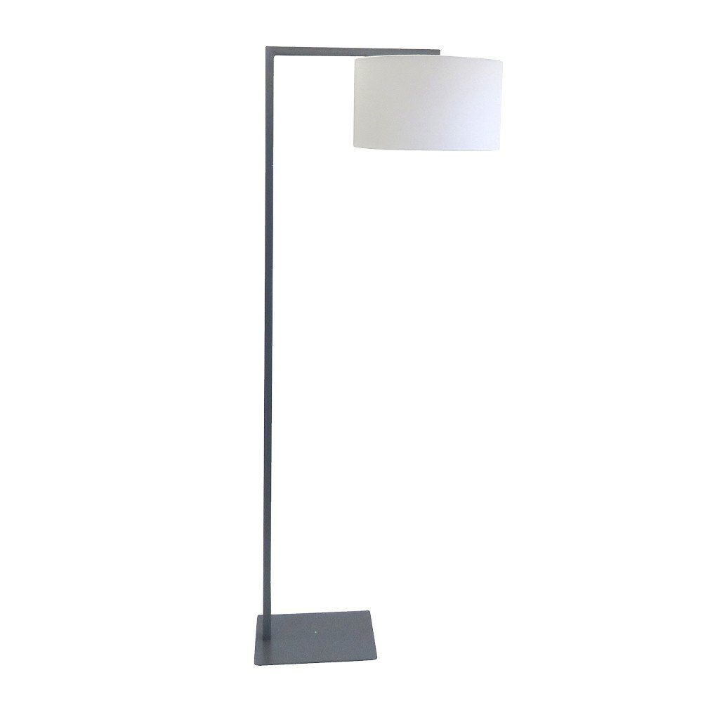 Cantilever Lamp | Floor Lamp | Malte Grey Shade | Leather Gallery