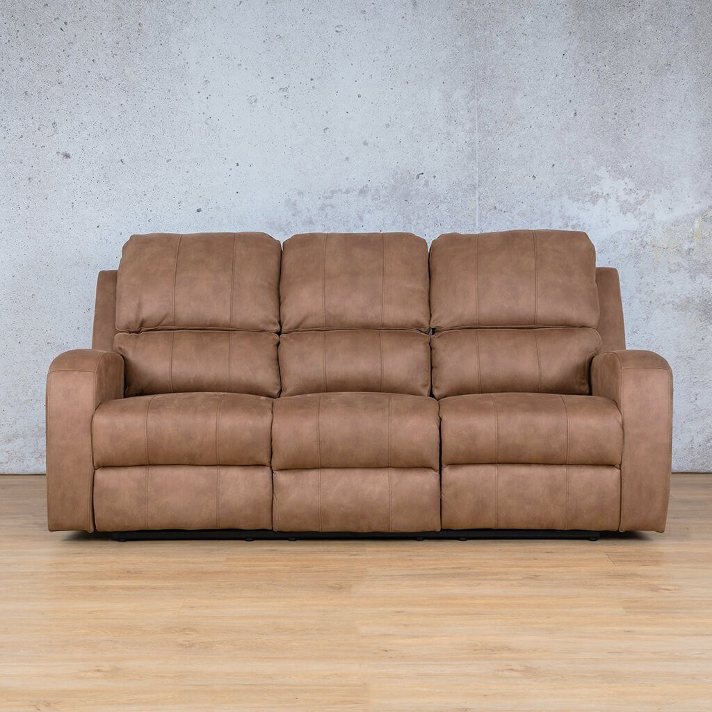 Orlando Fabric Recliner Couch | 3 Seater Couch | Light Brown-O | Couches For Sale | Leather Gallery Couches
