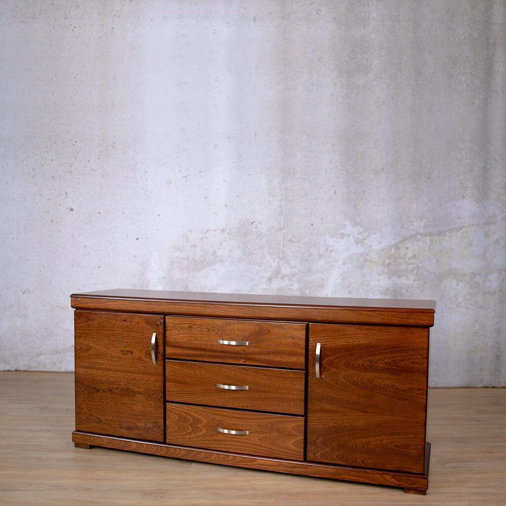Urban  Drawer Side Board | Walnut | Leather Gallery