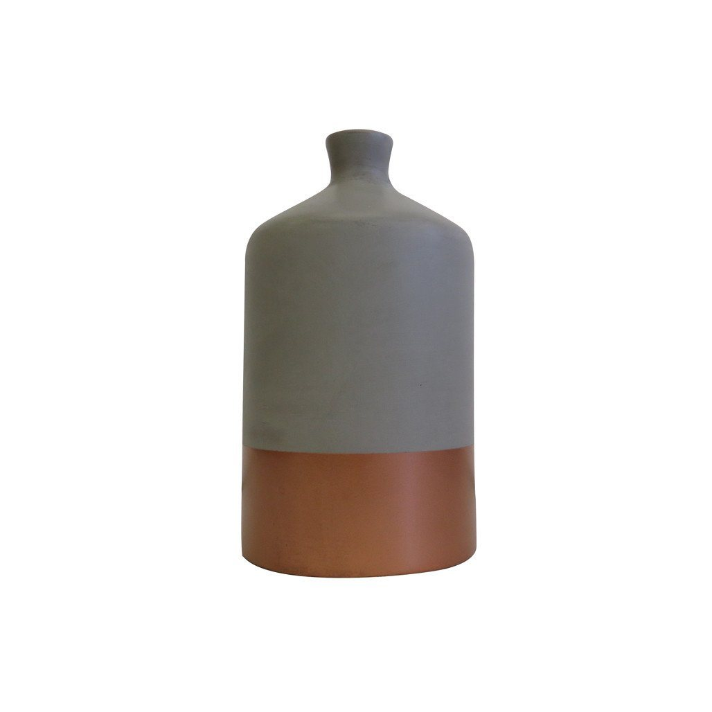 Vase | Dipped Copper | Leather Gallery