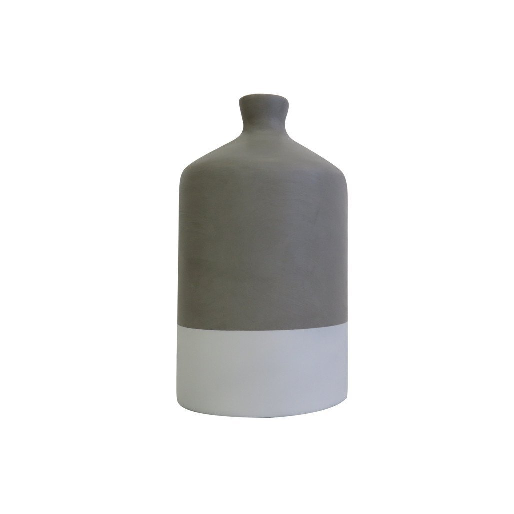 Vase | Dipped White | Leather Gallery