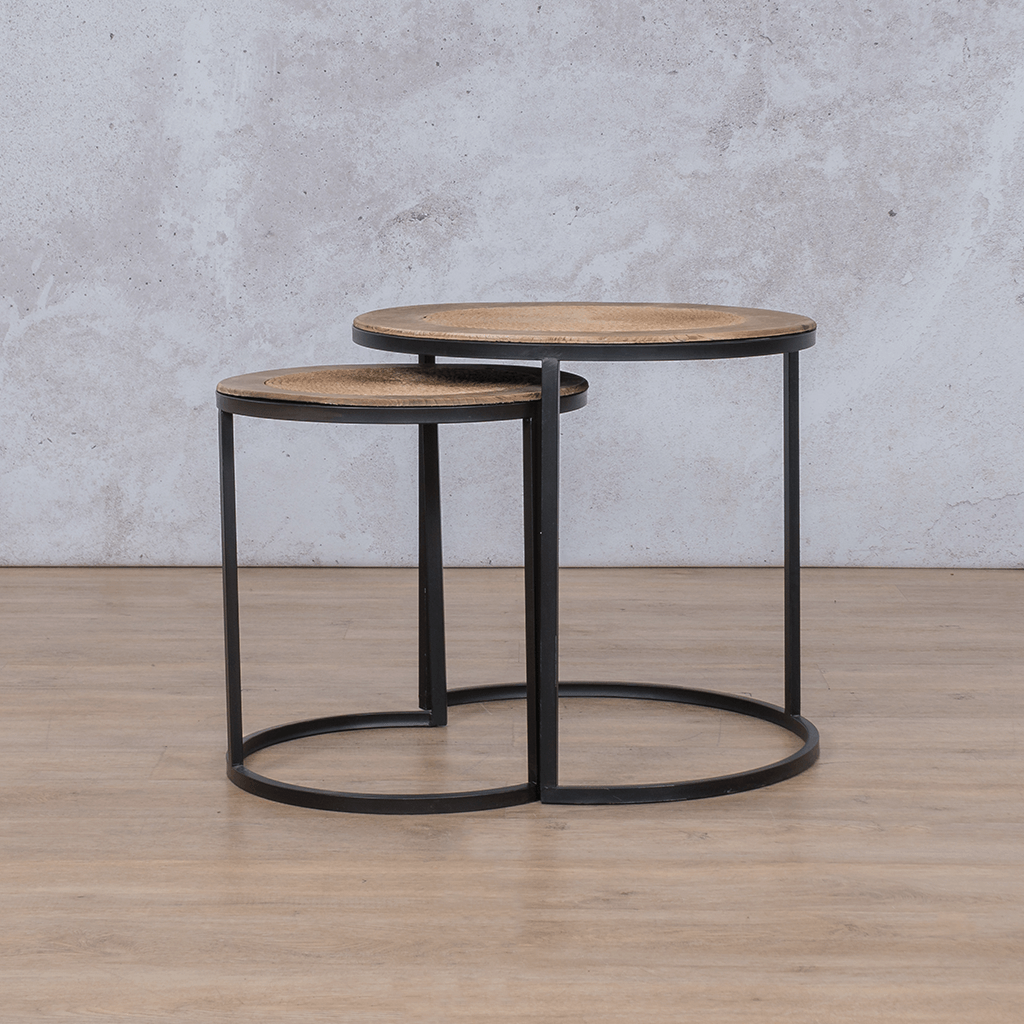 Vini Side Table | set of 2 | Leather Gallery