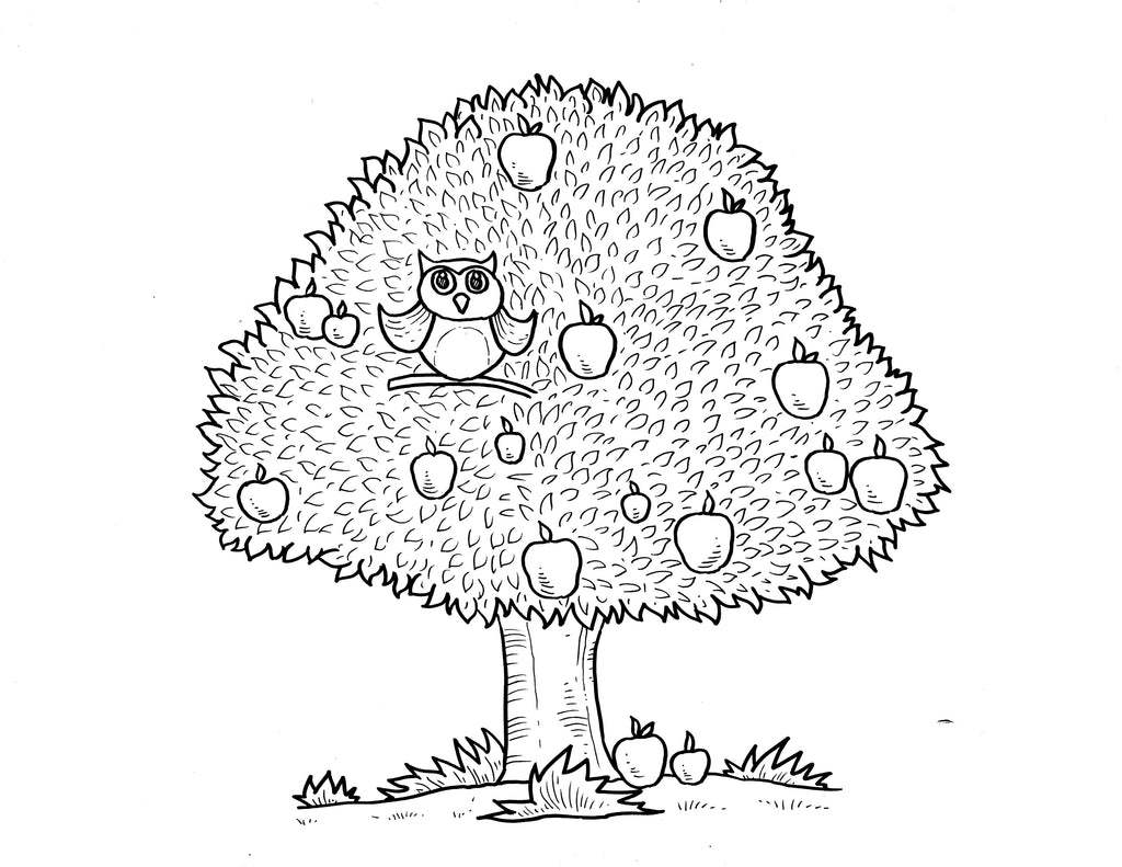 Sugar Plum Tree Free Colouring In Page for Handmade Fashion