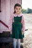 The Bria Pinafore in Forest Green Velvet= size 5 and 6!
