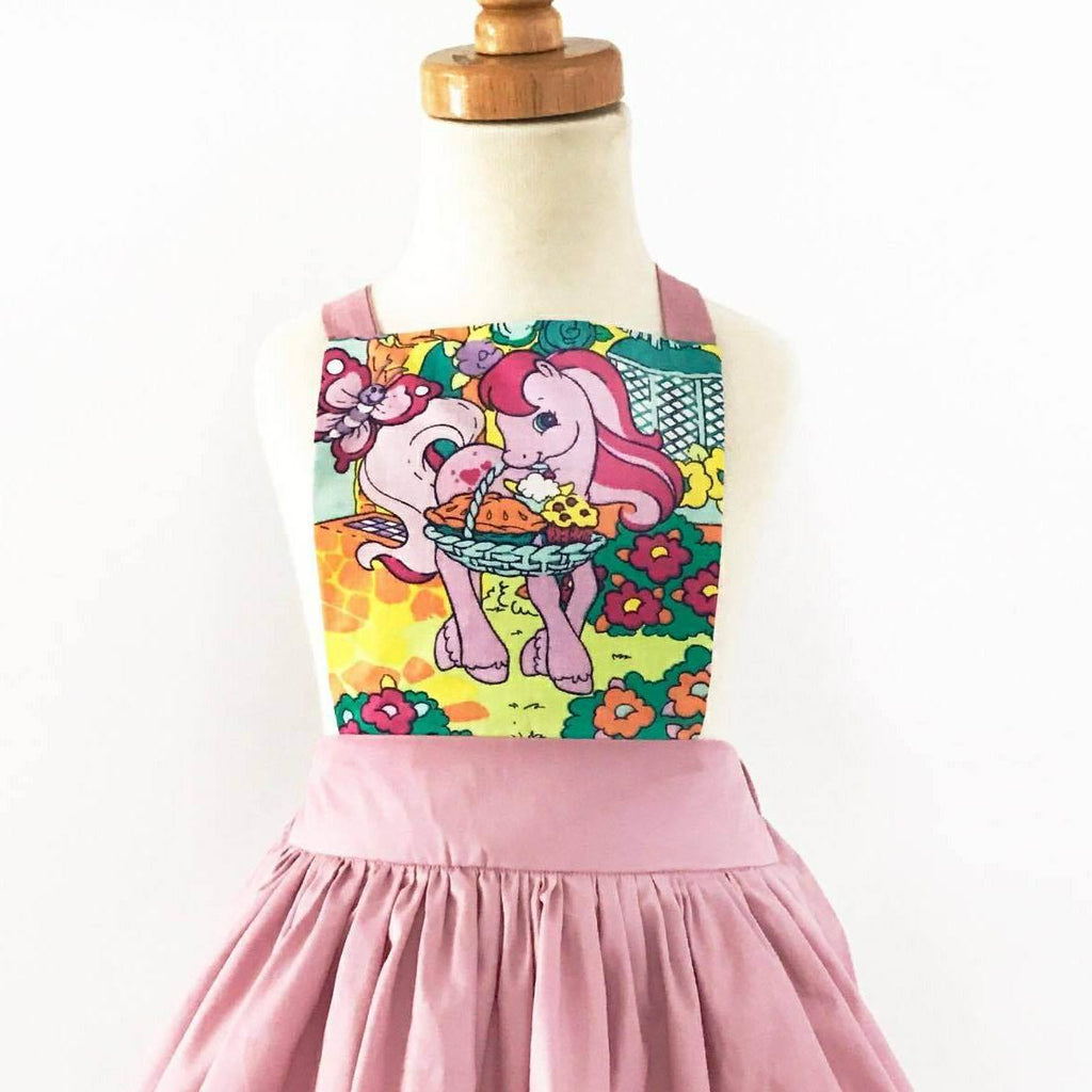 The Bria Pinafore in My Little Pony- Light Dusty Pink
