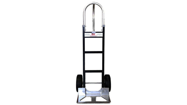 Black Liberator Aluminum Hand Truck - Cutout Nose Plate- n-n-moving-supplies.myshopify.com
