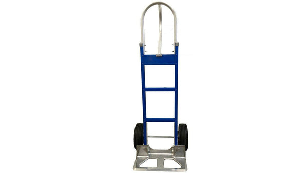 Blue Liberator Aluminum Hand Truck - Cutout Nose Plate- n-n-moving-supplies.myshopify.com