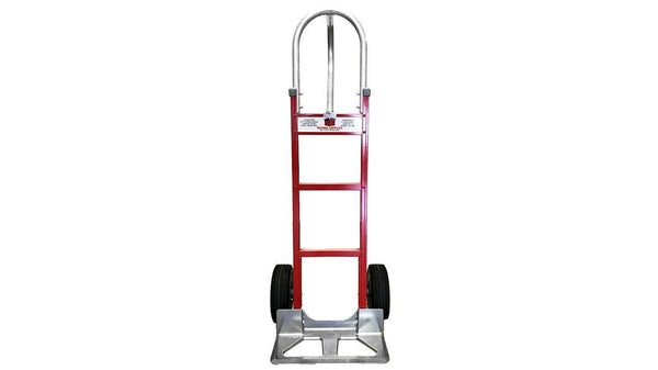 Red Liberator Aluminum Hand Truck - Cutout Nose Plate- n-n-moving-supplies.myshopify.com