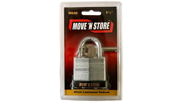"Move 'N Store MD40 1 1/2"" Pad Lock- n-n-moving-supplies.myshopify.com"