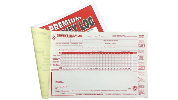 Safety Keller Premium Driver's Daily Log Book - Single