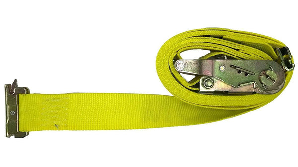 "Van Strap 12 Feet / Single Strap 2"" Ratchet Straps with E-Fitting"