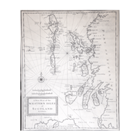 Martin Martin's Map of the Western Isles circa 1703
