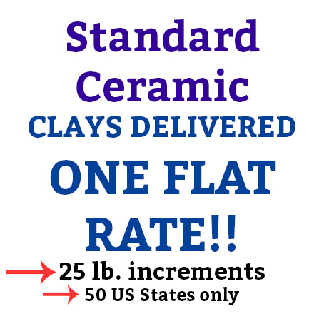 Standard Ceramics 25# Clay Delivered!