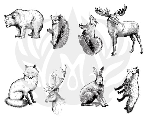 DSS-101 Silkscreen Woodland Animals