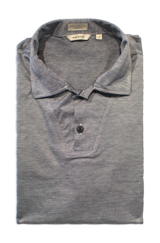 Luxury Cotton Short Sleeve Polo - Charcoal