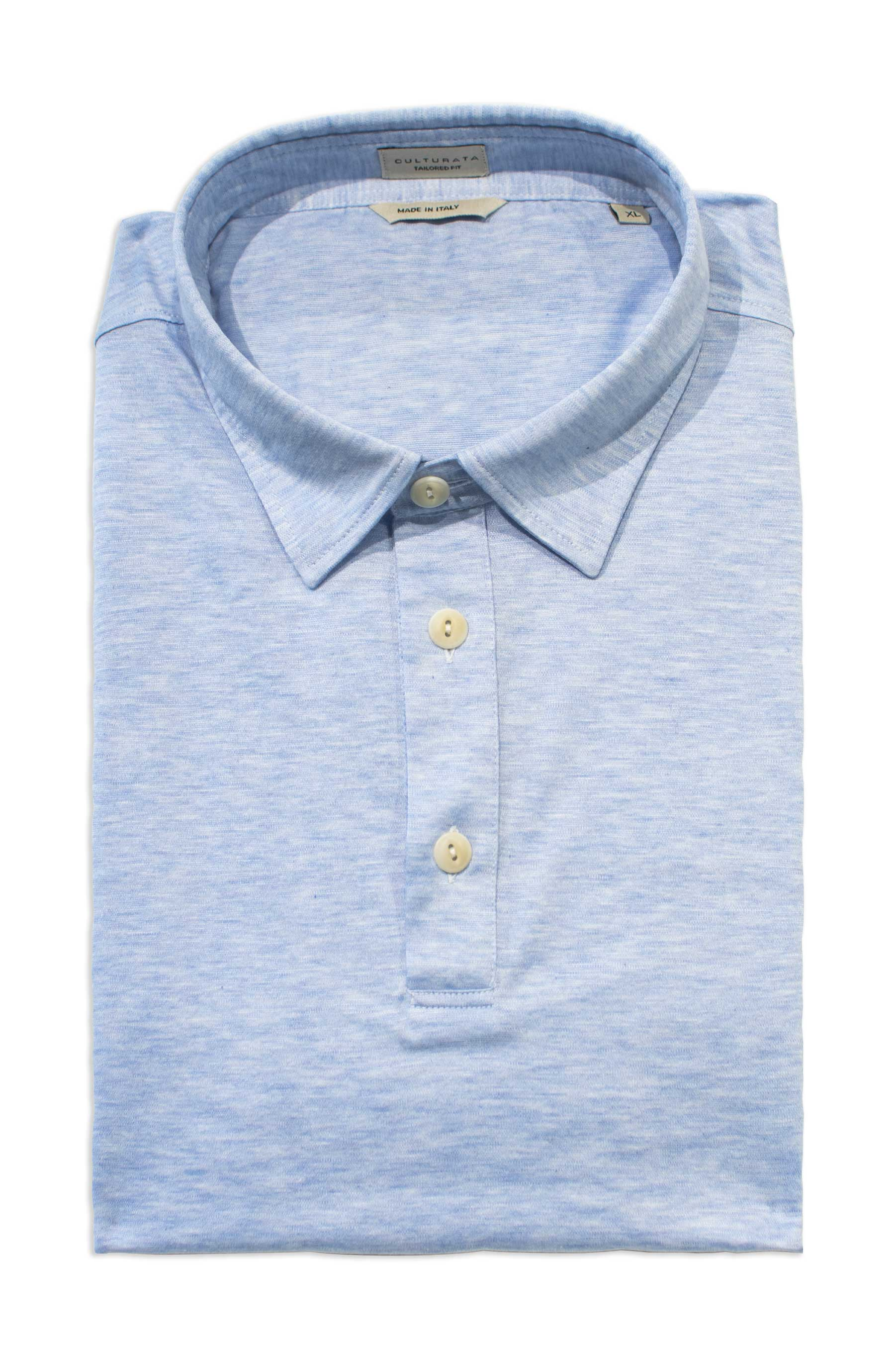 Luxury Cotton Polo - Light Blue
