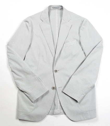 Garment Washed Solid Jacket - Grey
