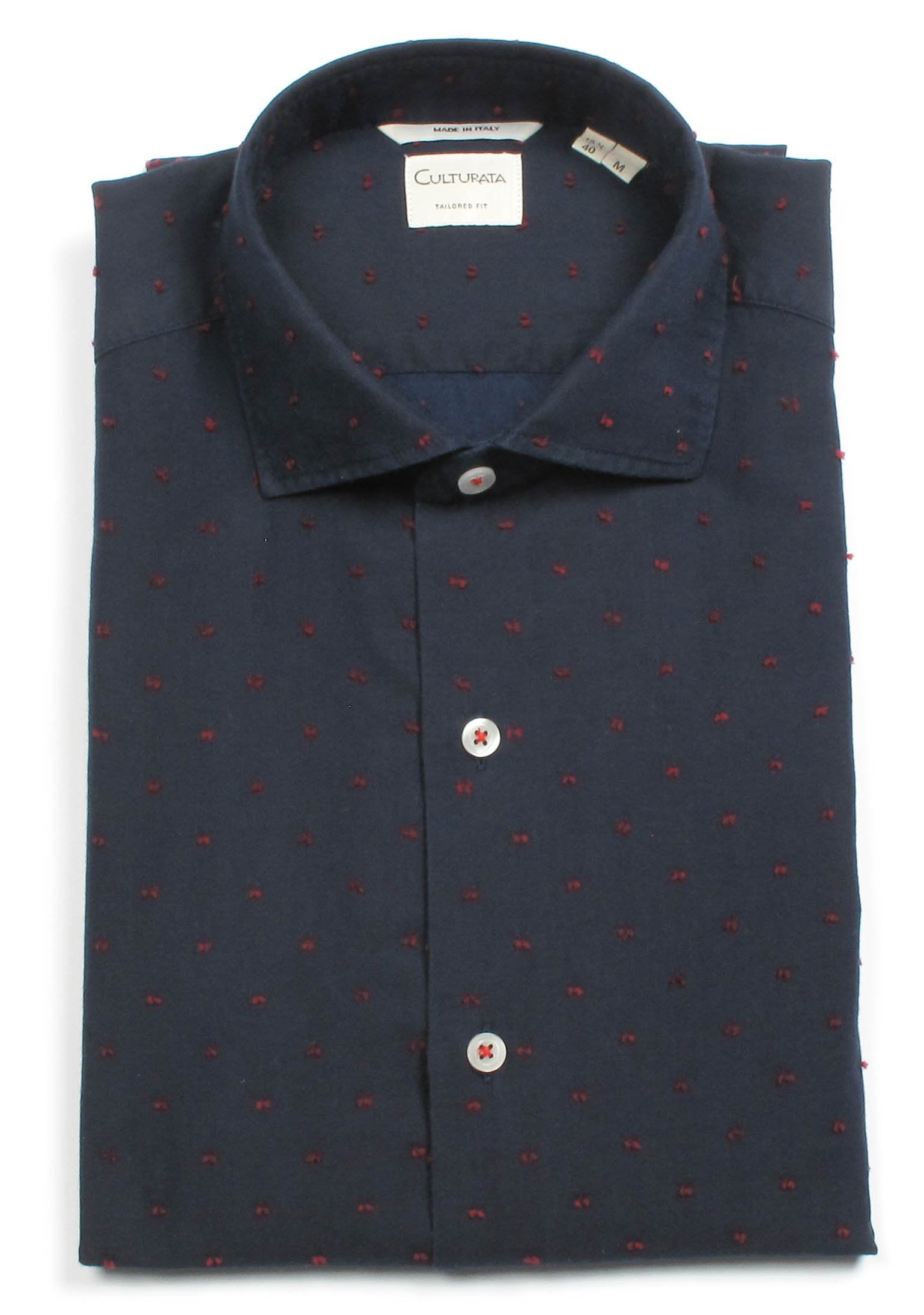 Denim With Textured Dot - Navy