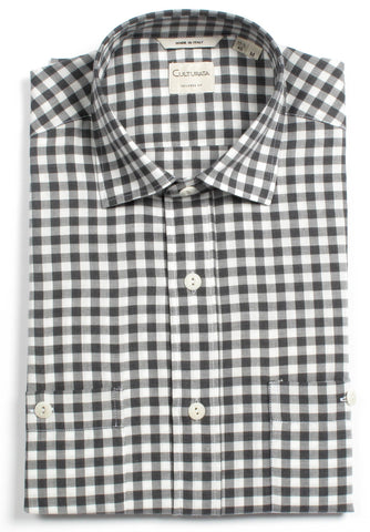 Cotton Gingham - Charcoal