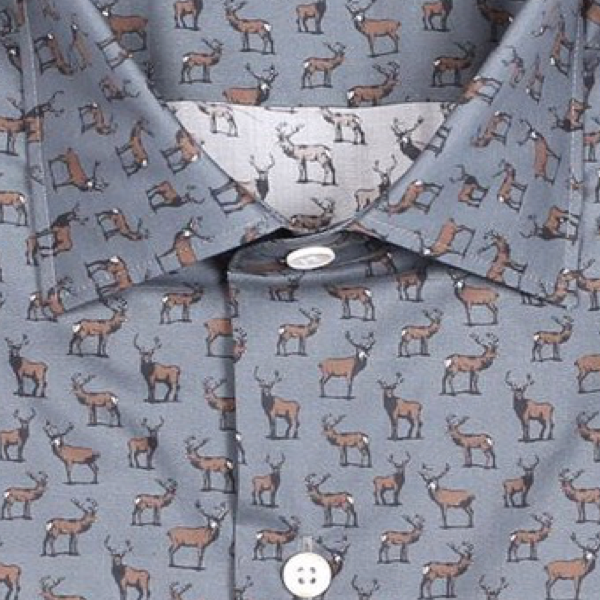 Retro Deer Print - Grey